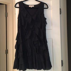 LOFT ruffled shift dress
