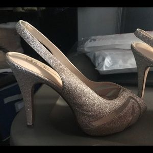 Lulu Townsend Shoes - Gold high heels/prom shoes