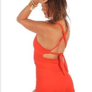 Mika Yoga Wear Tops - Mika yoga wear Linda top in fire opal