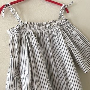 Striped Off the Shoulder Top from H&M