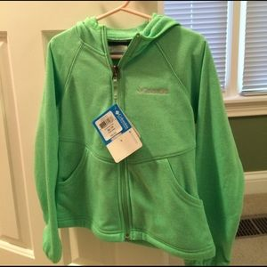 Columbia Other - NWT! Girls green zip up. Xs.