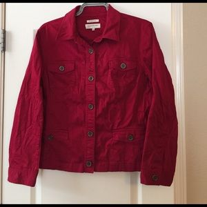 Jones New York Jackets & Blazers - JNY red stretch jacket