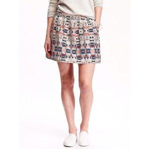 Old navy ikat print cotton skirt