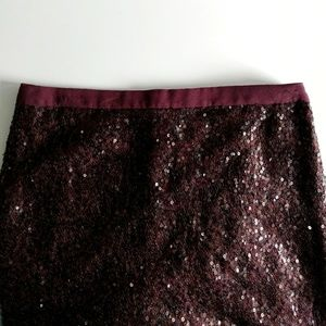 J. Crew Silk & Sequin Party Skirt