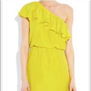 Tibi Dresses & Skirts - Yellow tibi one shoulder dress