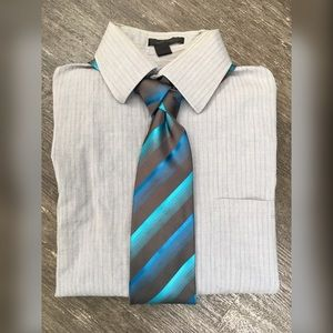 {dkny} Men's Pinstriped Dress Shirt