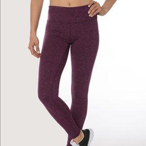 Reebok Pants - Purple plum speckled space dye RBX legging sz S