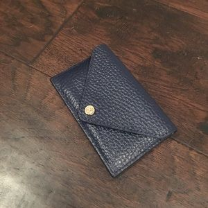 dagne dover Accessories - Dark Navy Leather Card Case