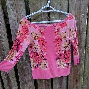 blumarine Sweaters - Blumarine pink floral sweatshirt