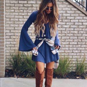 Lush Dresses & Skirts - LUSH bell sleeve vneck tunic dress