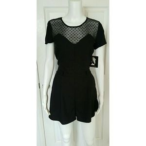 Marilyn Monroe  Pants - NWT Black romper / shorts jumpsuit playsuit