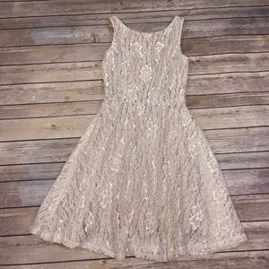 Xtraordinary Dresses & Skirts - Nude Lace Dress Size 3 NWOT