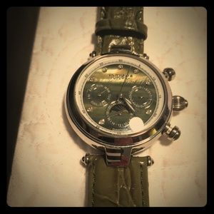 Akribos XXIV Accessories - Akribos olive genuine leather automatic watch