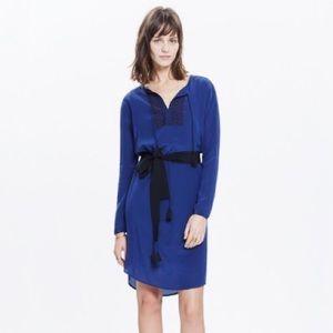 Madewell Silk Embroidered Prologue Dress