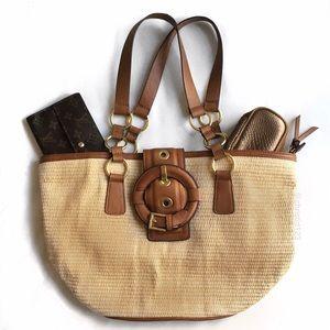 Olivia + Joy Handbags - Olivia + Joy Straw Tote
