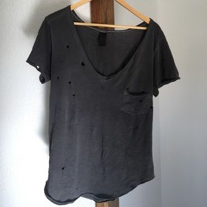 Swell Tops - Distressed V-neck