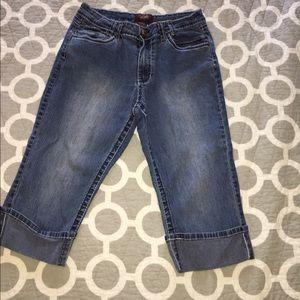 Angels Denim - Angel Capri jeans cuffed size 10