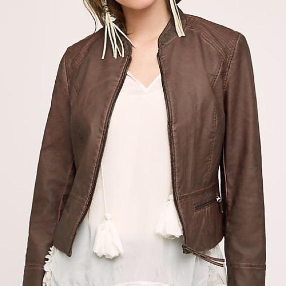 4efe0008e Anthropologie Hei Hei Dara Vegan Leather Jacket NWT