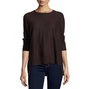 Eileen Fisher Tops - {Eileen Fisher} Brown Long Sleeve Tee Shirt
