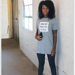 "Zara ""Another Question Please"" T-shirt"