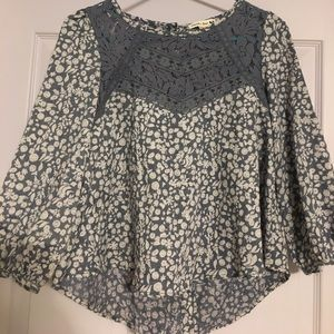 Double Zero Tops - Floral and Lace Top