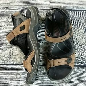 Ecco Other - ecco brown leather strap sandals size 11.5