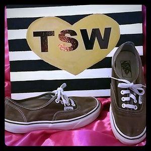 Vans Shoes - VANS faded brown tennis shoes