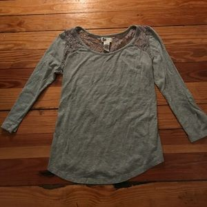Hollister Tops - Lace back long sleeve