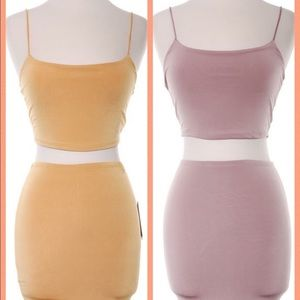 Other - Dusty Pink and Mustard Skirt Set