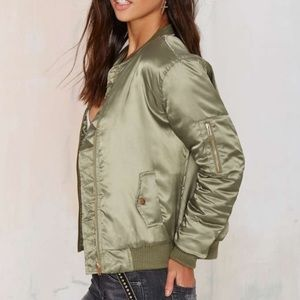 Nasty Gal Jackets & Blazers - Nasty Gal Glamorous Take Games Bomber Jacket NWT