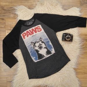 """riot society Tops - Riot society """" paws"""" graphic tee"""
