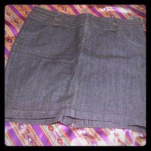 Dresses & Skirts - Plus Dark Denim Pencil Skirt