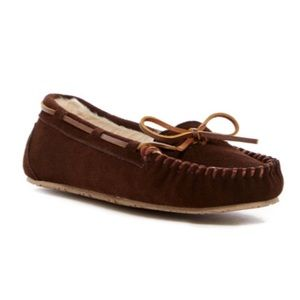 Minnetonka Shoes - Junior Trapper Faux Fur Lined Moccasin Slipper