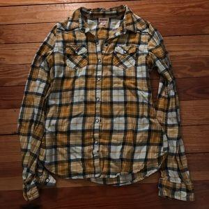 Hollister Tops - Plaid flannel shirt
