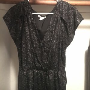 Black and silver BCBG party dress