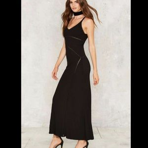 Nasty Gal Dresses & Skirts - Rony Ribbed Maxi Dress by Nasty Gal XS NWT black