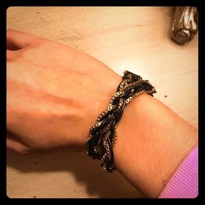 Authentic Henri Bendel Leather Wrap Bracelet