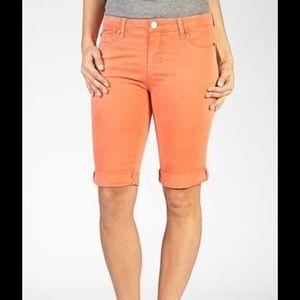 Liverpool Jeans Company Pants - Liverpool Orange Maggie Bermudas. Size 2/26.