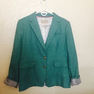 Banana Republic Jackets & Blazers - Banana Republic Light Green Blazer w/elbow detail