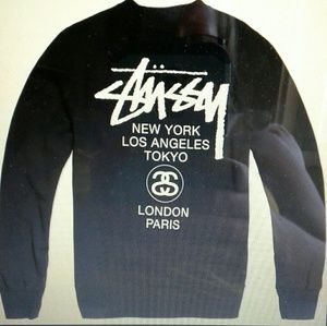 Stussy Sweaters - Stussy World Tour Crew skate sweatshirt