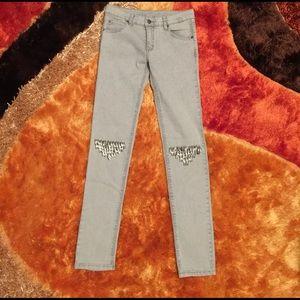 Cheap Monday Denim - Ultra Rare! Cheap Monday Knee Embellished Jeans