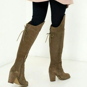 Sbicca Shoes - New Sbicca Over the Knee Suede Boots. Khaki.