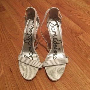 Sam Edelman white heels 8.5