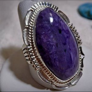 Navajo Sterling Natural Sugalite NOT DYED Ring