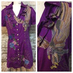 COOGI Dresses & Skirts - Fabulous Coogi bling purple dress with eagle
