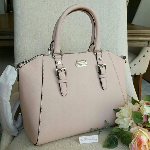 Michael Kors Ciara satchel ballet pink purse bag NWT