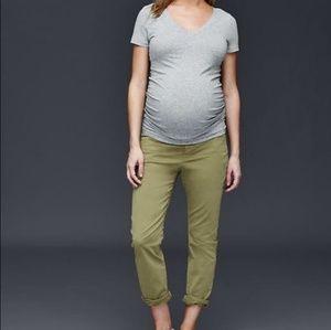 GAP Pants - GAP Maternity Girlfriend Khakis
