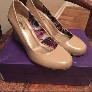 Madden Girl Shoes - Madden Girl Nude Wedge Heels