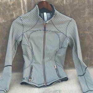 lululemon athletica Jackets & Blazers - RARE Lululemon Jacket Navy stripes copper hardware