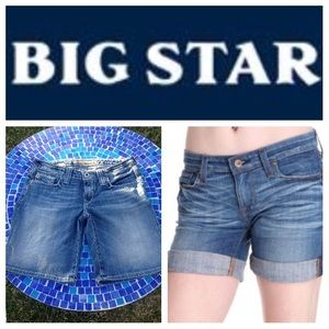 Big Star Pants - GREAT SHAPE!  Big Star Sweet ultra-low rise shorts